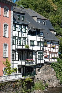Riverside living in the picturesque town of Monschau in the Eifel Mountains - Germany