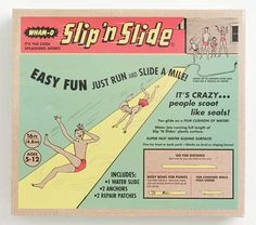 """For the coming sunny days, that could be a great idea to make one of those """"Slip 'N Slides"""" for kids to have fun !"""