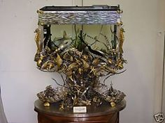 Giant Aquariums: Italian antique Aquarium sterling silver 925