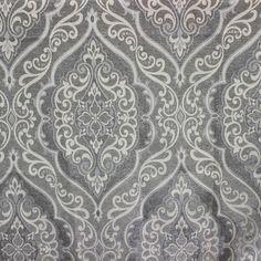 Grey Elegance Story Upholstery Fabric Curtain Fabric by FabricMart