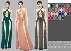 The Sims 4 Criss Cross Dress by simply-simming Sims 4 Mods Clothes, Sims 4 Clothing, Sims 4 Cas, Sims Cc, Sims 4 Gameplay, The Sims 4 Download, Sims 4 Cc Finds, The Sims4, Sims 4 Custom Content