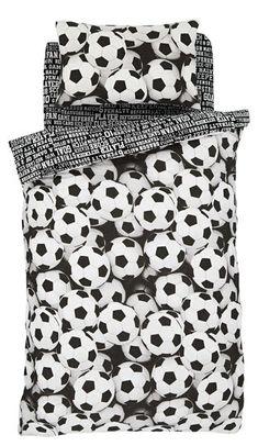 Voetbal dekbedovertrek zwart/wit € 24,95 - Muurdeco4kids