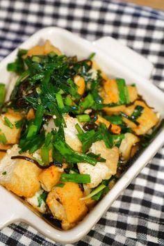 材料3つ。味付けいらず!冷めても美味しい!塩昆布と厚揚げのニラ炒めのレシピ