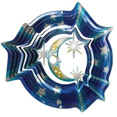 Iron Stop 10 in. Moon and Stars Wind Spinner-D280-10 at The Home Depot