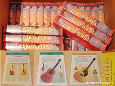 LOTE FASCICULOS LECCIONES Y VHS VIDEO CURSO DE GUITARRA DE ORBIS FABBRI PARTITURAS Y BIOGRAFIAS