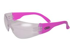 Vibrant Womens Pink Safety Glasses, Clear Lens