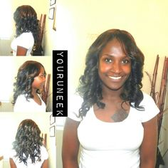 Full sewin with custom color and lace closure