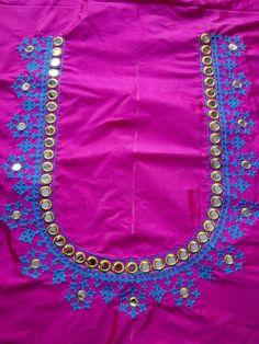 9912954124 Fancy Blouse Designs, Blouse Neck Designs, Sleeve Designs, Mirror Work Blouse Design, Kutch Work Designs, Kurti Sleeves Design, Embroidery Neck Designs, Rangoli Designs, Clothes For Women