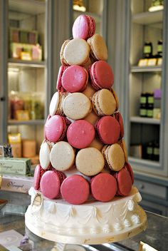 Laduree Macarons Roses  would be easy to recreate if you have a French bakery near by.