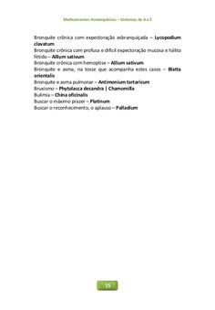 Medicamentos Homeopáticos – Sintomas de A a Z 15 Bronquite crônica com expectoração esbranquiçada – Lycopodium clavatum Br...