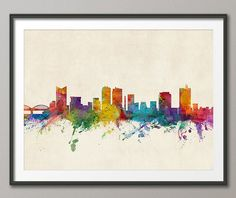 Fort Worth Texas Skyline Cityscape, Art Print (1003)