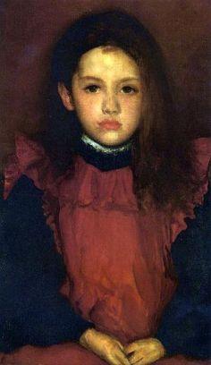The Little Rose of Lyme Regis, by James Abbott McNeill Whistler (1834 – 1903, American)