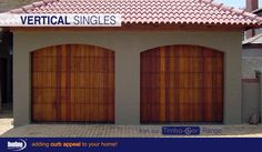 Vertical Slatted Wooden sectional garage doors from our Timba-dor™ Range. Visit www.doorzonesa.com for more styles