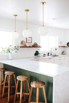 Green kitchen details