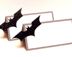 Handmade batman wedding invitations – Etsy think ive just found our seating cards :) xx
