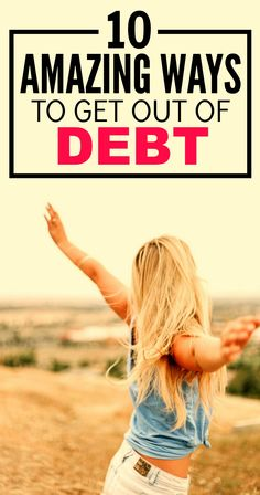 These 10 Amazing Tips on Getting Out of Debt are SO GOOD! I've started to apply some of the strategies and I'm ALREADY SEEING MY DEBT GO DOWN! So GLAD I read this! Definitely pinning for later!