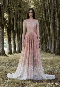 Prom Dresses 2018 For an enchanted forest a fairytale wedding dream dress from the haute couture collection, Gilded Wings of Paolo Sebastian is what you need, don't you think? Wedding gown of Paolo Sebastian and photo by Simon Cerere. Pink Wedding Dresses, Wedding Gowns, Prom Dresses, Formal Dresses, Bridal Gowns, Long Dresses, Long Sleeve Quinceanera Dresses, Rose Gold Wedding Dress, Beaded Dresses