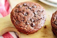 Paleo Double Chocolate Zucchini Muffins  #SunnySideUps