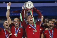 Top 10 Photos Of Cristiano Ronaldo - Portugal - Euro 2016 Cristiano Ronaldo Portugal, Cr7 Ronaldo, Portugal Euro 2016, Cr7 Portugal, Good Soccer Players, Football Players, Real Madrid, Portugal National Team, We Are The Champions