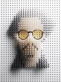 johnny depp in armani sunglasses - philip karlberg: pin art - celebrity portraits for plaza