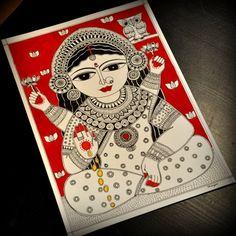Shinjini`s Art – Indian Folk Art (Madhubani, Kalamkari, Gond) Madhubani Art, Madhubani Painting, Durga Painting, Kalamkari Painting, Indian Folk Art, Indian Artist, Indian Art Paintings, Art Folder, India Art