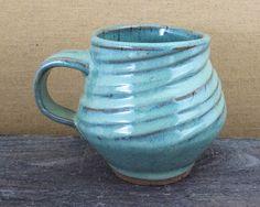 LaPella Art. Jade Green Mug, 14 ounces