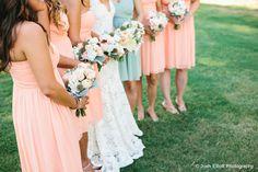 Scott and Sarah's Wedding featuring the Jessie and Morgan in Peach Fuzz © Josh Elliott Photography