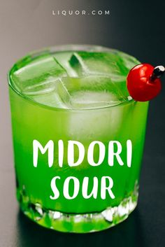 This bright-green blast from the past combines sweet and sour flavors. It's a retro, colorful #cocktail that should never be forgotten! {wine glass writer}
