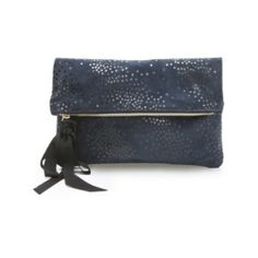 CLARE VIVIER Star Print Fold Over Clutch