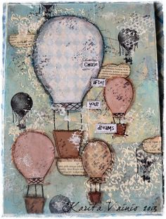 Mixed media canvas - Chase after your dreams
