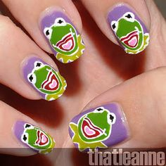 Kermit the Frog nails?! :o Yeah.