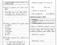 Pedagogia Século XXI: Atividades de Substantivos Próprios e Comum 2 º ANO