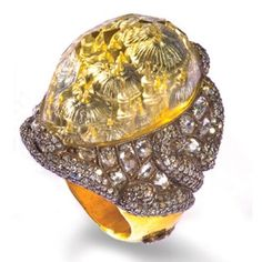 Ring by Turkish jewelry designer Sevan Bicakci. Each ring is meticulously handcrafted and can take anywhere from eight weeks to a year and a half to complete.