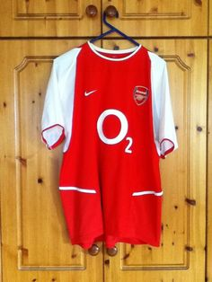Arsenal Football Club Home Jersey 2002 to 2004 Large Adult Nike Vieira 4 Nike