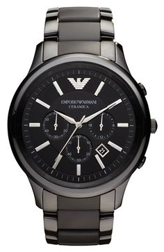 Emporio Armani Large Ceramic Chronograph Watch available at #Nordstrom