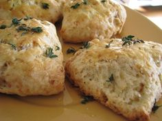 Thyme Country Style Biscuits - Made with fresh thyme and surprisingly dairy-free and vegan - they use coconut oil rather than butter for equally tender results.