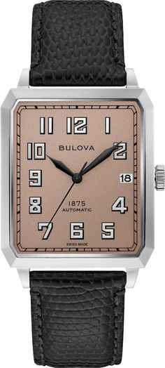 Bulova Watch Marine Star Mens #add-content #allow-discount-yes #basel-20 #bezel-fixed #bracelet-strap-leather #brand-bulova #case-depth-10-5mm #case-material-steel #case-width-32mm #date-yes #delivery-timescale-call-us #dial-colour-brown #fashion #gender-mens #limited-edition-yes #movement-automatic #new-product-yes #official-stockist-for-bulova-watches #packaging-bulova-watch-packaging #sale-item-no #sty Vintage Bulova Watches, Watch Box, Metal Bracelets, Automatic Watch, Stainless Steel Case, Joseph, Watches For Men, Brown Fashion, Mens Fashion