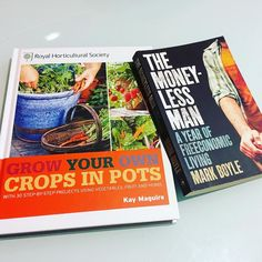 These two books are currently my source of inspiration and information. :) #sustainableliving