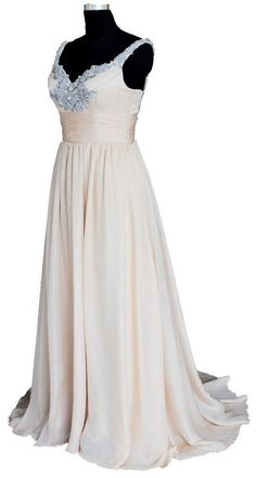 Faironly Beige Straps Women's Evening Formal Dresses Size 6 8 10 12 14 16