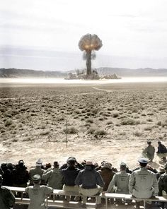 Atomic explosion at Nevada Test Site, 1957?