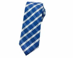 Yale Blue with Check Patterns Skinny Ties Ties Online, Skinny Ties, Neckties, Wedding Men, Blue And White, Slim, Mens Fashion, Patterns, Formal