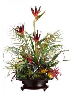 tropical sconces   ... tropical arrangements, tropical silk flower arrangements, peony