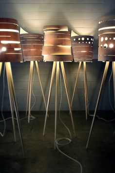 Various designs of the Silent Lamp