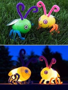 Glow in the dark Fire fly Plastic Eggs, Plastic Egg Crafts For Kids, Easter Crafts For Kids, Easter Ideas, Easter Recipes, Glow Crafts, Light Crafts, Bug Crafts, Preschool Crafts