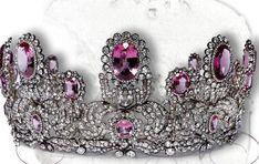 Rose topaz and diamond tiara of Princess Marie of Wurttemberg (1857-1882)