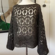 Ravelry: Project Gallery for Lacy Sweater 透し模様のセーター pattern by Mariko Mikuni (三國 万里子)