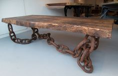 welded chain - Google Search. This is going to be a bitch to move when vacuuming.. But it's gorgeous!!!