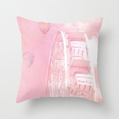 Baby Girl Pink Nursery Decor Pink Carnival Pillow by KathyFornal