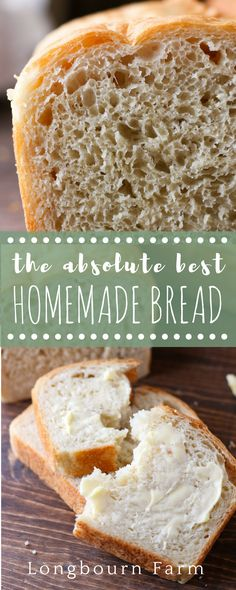 This is the best homemade bread recipe! The bread is soft and airy with a perfec… This is the best homemade bread recipe! The bread is soft and airy with a perfect buttery crust. It will turn out every time you make it. Try it today! Best Homemade Bread Recipe, Easy Bread Recipes, Spicy Recipes, Baby Food Recipes, Meat Recipes, Fall Recipes, Mexican Food Recipes, Baking Recipes, Holiday Recipes