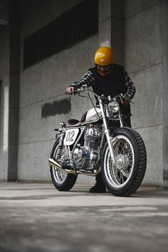 Small and perfectly formed: A Suzuki TU250 by Max Ma of 2LOUD Custom.